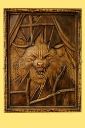 Резная картина Волк