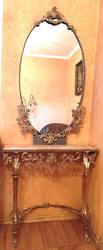 Консольный столик с зеркалом (Бронза. Комплект)